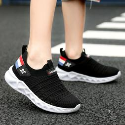Kids Lightweight Breathable Sneakers Easy Walk Sport Shoes B