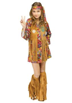 Kids Peace & Love Hippie Costume SIZE XL
