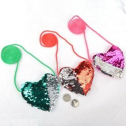 KidsToddler Girl Sequins Heart-shaped Crossbody Purse Little