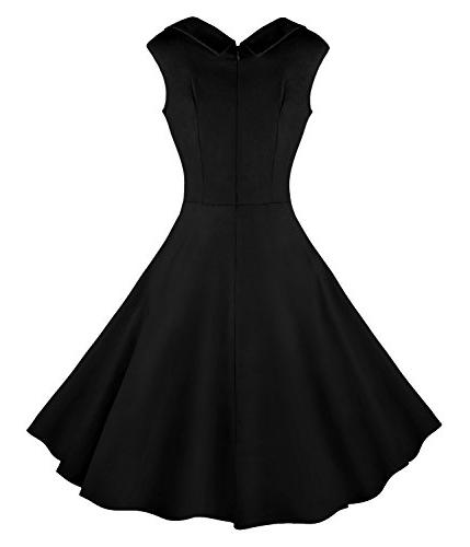 Killreal 1950's Cut Out Vintage Party Swing Black