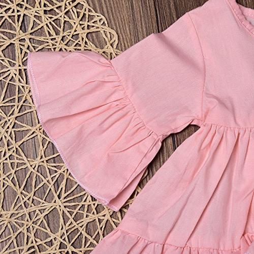 HappyMA Baby Outfit Irregular Hem Blouse And Floral Pink