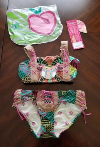 2pc owl little girls 2pc swimsuit size