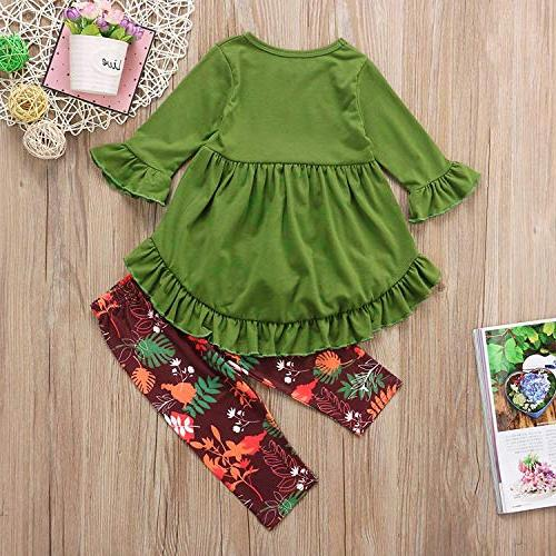 2PC Little Ruffle Top Pants Fall Winter Clothes