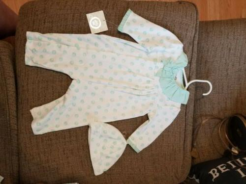 Little Me 3 Months Girls Outfit With Hat