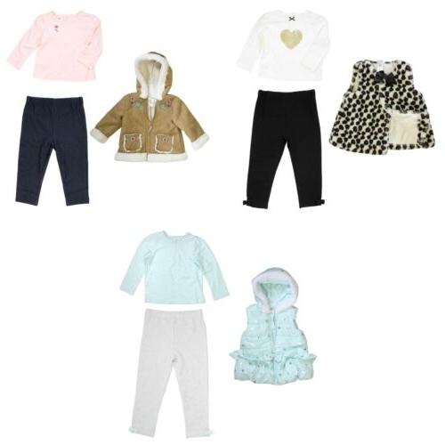 3 piece set for girls coat or