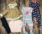 5 Pc Lot Girls Clothes Little Me Outfit Sleepers Pajamas Fal