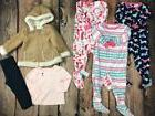 6 Pc Lot Girls Clothes Little Me Outfit Sleepers Pajamas Fal