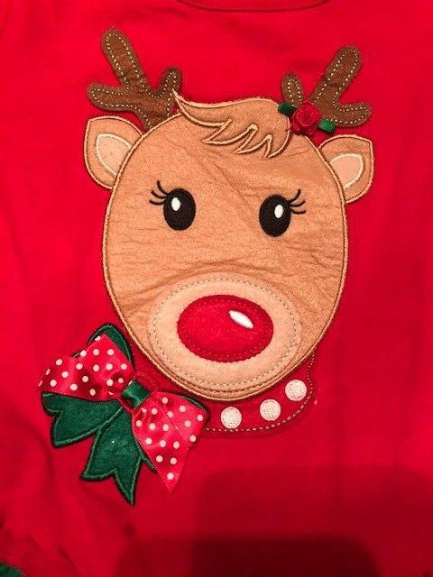 Emily Rose Christmas Reindeer Holiday Party Little Sz 5 NEW