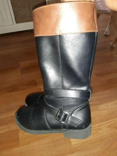 Adorable Size 12 Riding Boots Black Brown