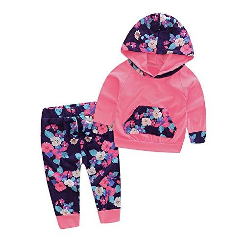 baby girl 2pcs set outfit flower print