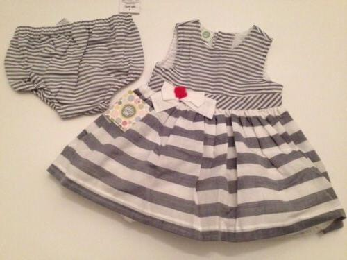 Little Me Baby Girl Dress Diaper Cover Set Size 6 24 Months