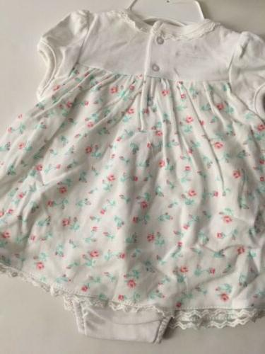 Little Me Baby Girls Dress Hat Size Months White Floral