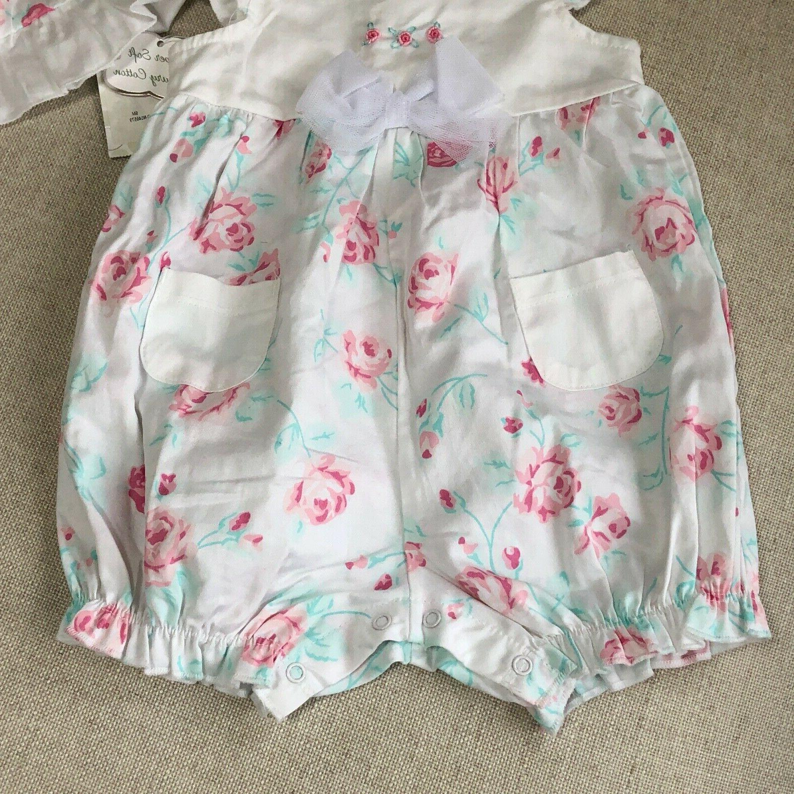 Pink Flowers Romper Fanciful Months