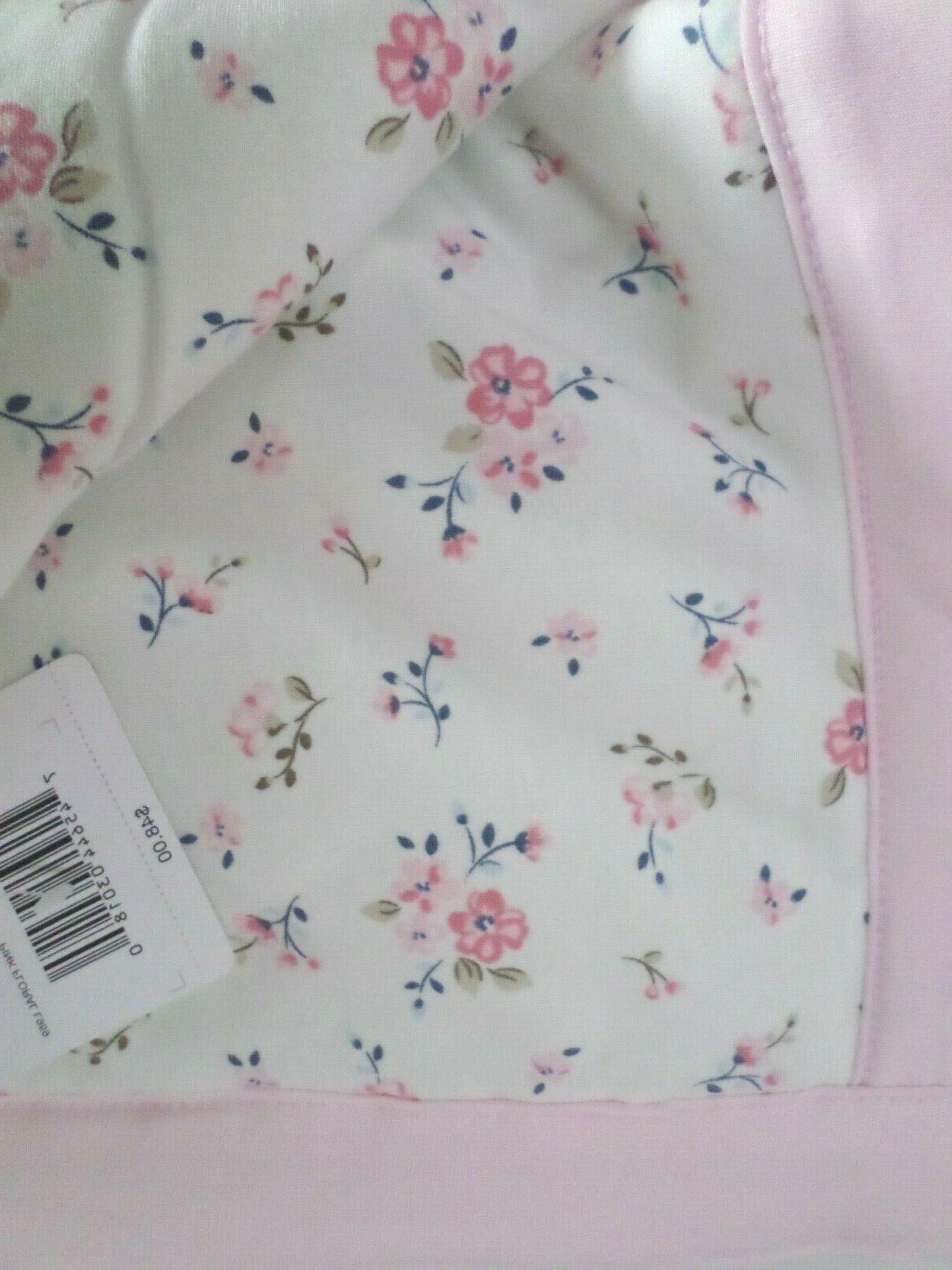 Little Me Super Quilt Blanket White/Pink 40x40 NWT