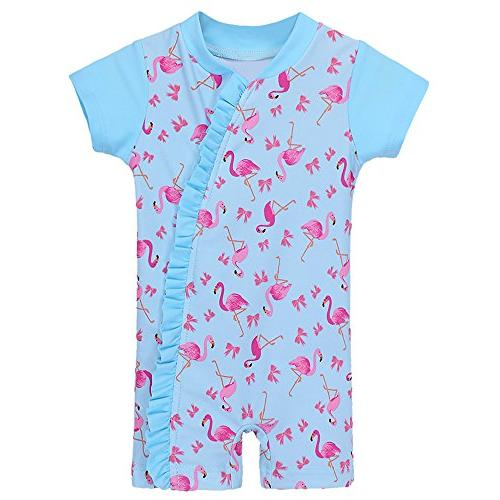 baby girls swimsuit rashguard swimwear one piece