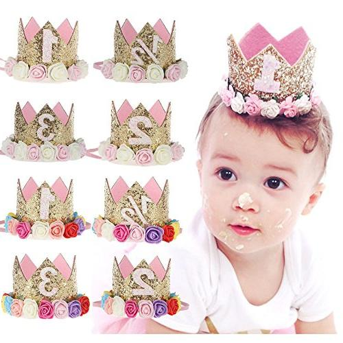 Baby Princess Baby Hat Sparkle Gold Style Flower