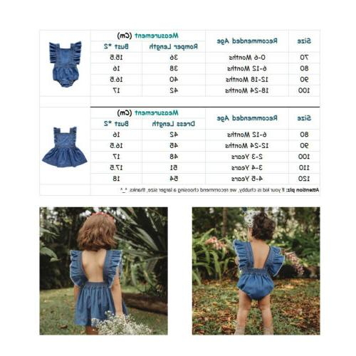 Big/Little Sister Kids Baby Girls Jumpsuit Romper Dresses