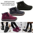 Boys Girls Warm Ankle Snow Boots Sneaker Fur Lined Lightweig