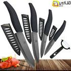 Ceramic Knife 3 4 5 6 inch Black Blade  Peeler Slicer Kitche