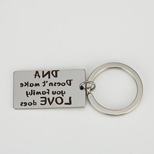 Charm.L DNA Make You FamilyLove does. Keychain Love