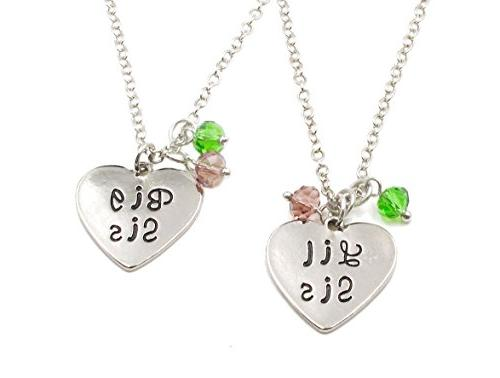 charm l grace matching necklaces keychain crystal