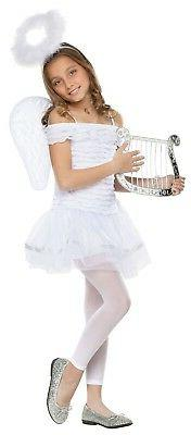 Child Girls Little Angel Fairy Heavenly Dress Wings Halo Hea