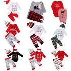 Christmas Baby Boy Girls Infant Outfits Clothes Cotton Tops