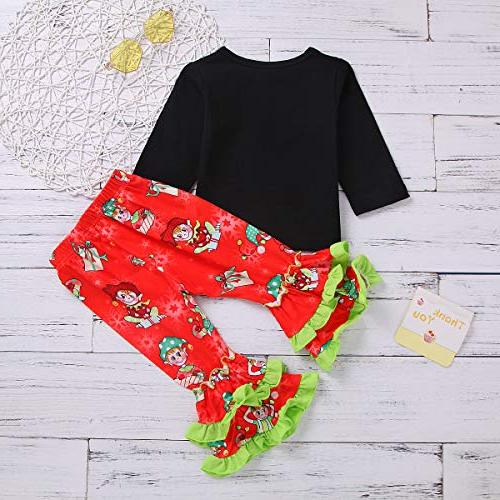 Christmas Toddler Baby Girls Holiday Clothes 2Pc