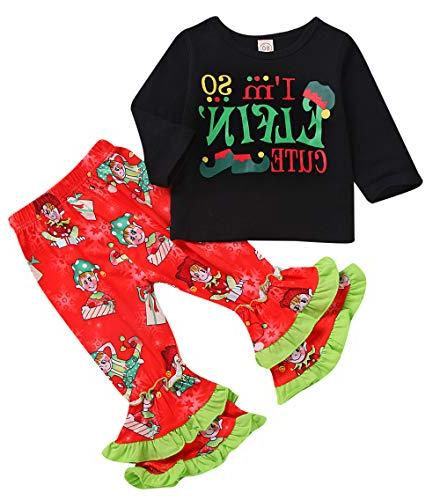 christmas outfit toddler baby girls long sleeve