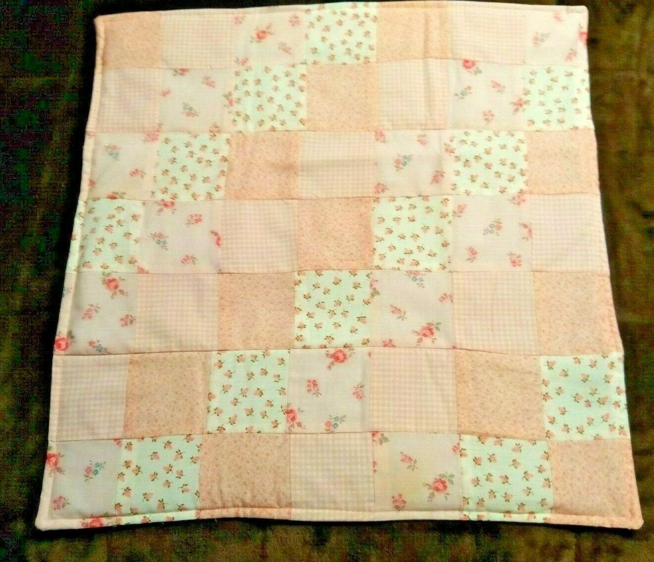 COUNTRY COTTAGE KIDS LITTLE GIRLS PINK THROW QUILT & DOLL QUILT