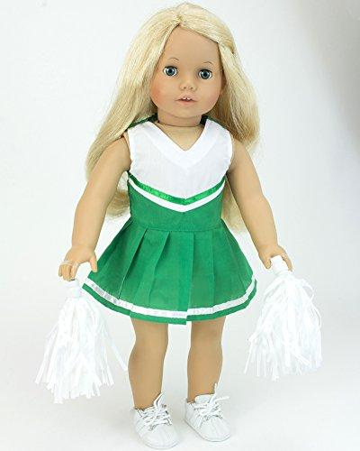 18 Green Cheerleading 2pc Doll & Two-Piece Cheer with
