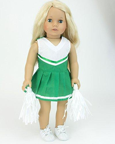 18 Cheerleading Set 18 Inch American Doll More! Two-Piece with White Pom-Poms