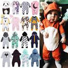 Fashion Kids Baby Boys Girls Hooded One Piece Jumpsuit Rompe
