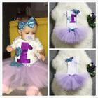 First 1st Birthday Baby Girls Tutu Outfits Sets Little Merma