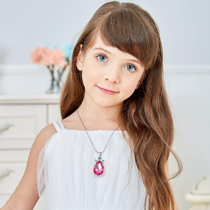 Vinjewelry First Birthday Pink Necklace For Little Gi
