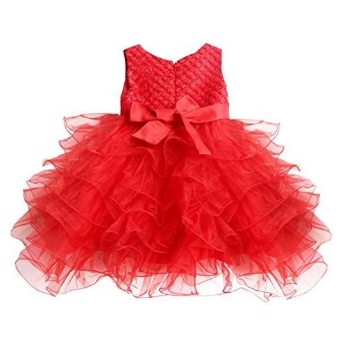TiaoBug Baby Wedding Pageant Bowknot Communion Party 3T