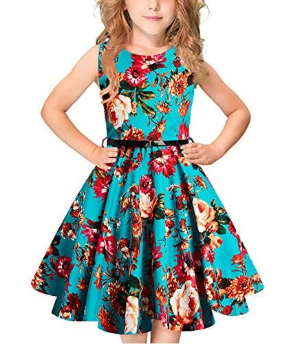 girls 1950s retro rockabilly swing dress casual