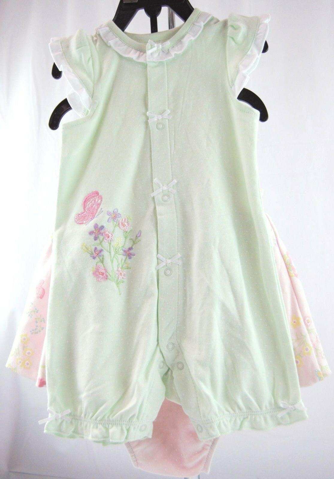 girls 3 piece set pink and green