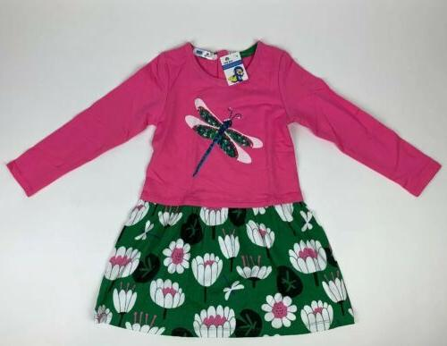 girls 7 8yrs pink green long sleeve