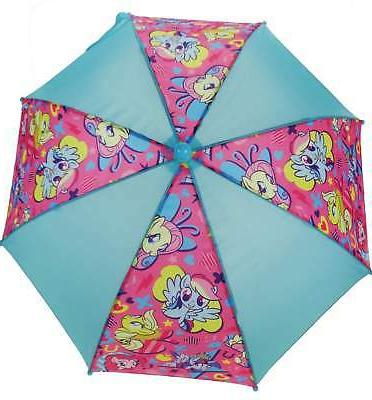 Girls My Little Pony Children's Rain Umbrella Brolly Aqua &