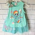 My Little Pony Girls Green 2 Piece Set Tank TuTu Skirt/Skort