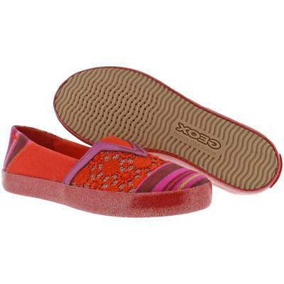 Geox Girls Striped Sneakers Shoes 5697