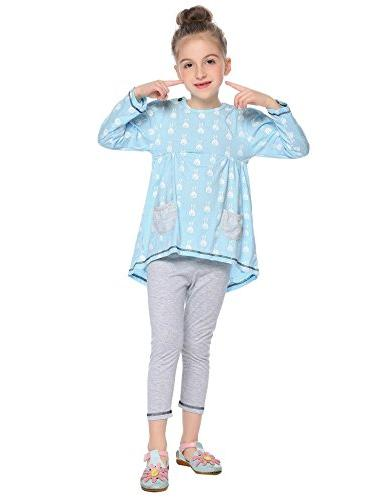 Balasha Girls Print 2PC Sets Top