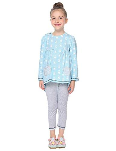 Balasha Outfits Print Top Sets Pockets