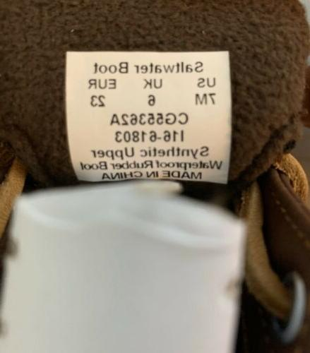 Girls Sperry Rubber Boot Brown Toddler