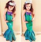 Halloween Kid Ariel Little Mermaid Set Girl Princess Dress P