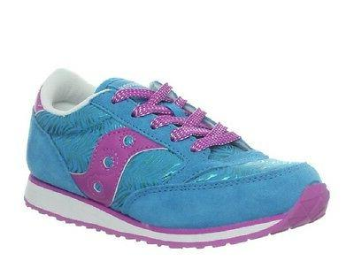 Saucony Jazz Low Pro Sneaker ,Blue/Purple/Zebra,3 M US Littl