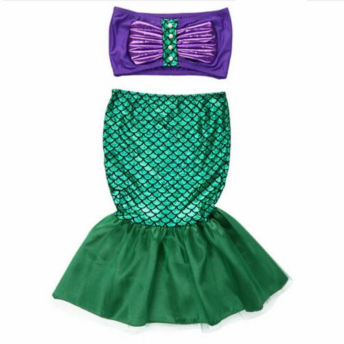 Kid Girls Mermaid Party Costume Outfits