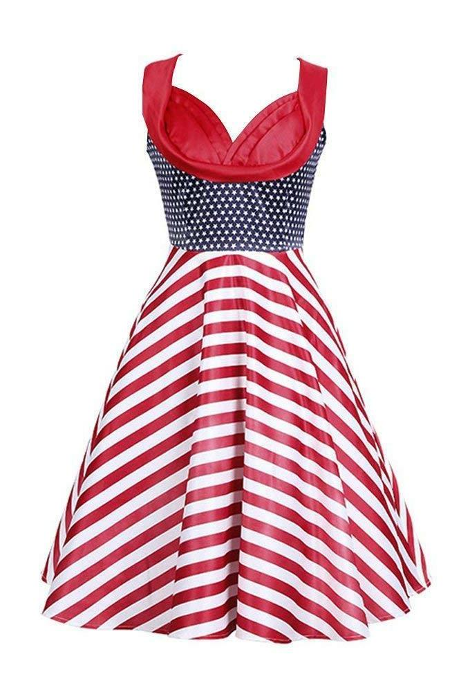 Killreal Women's Out Vintage Casual Party Cocktail Swing Dress