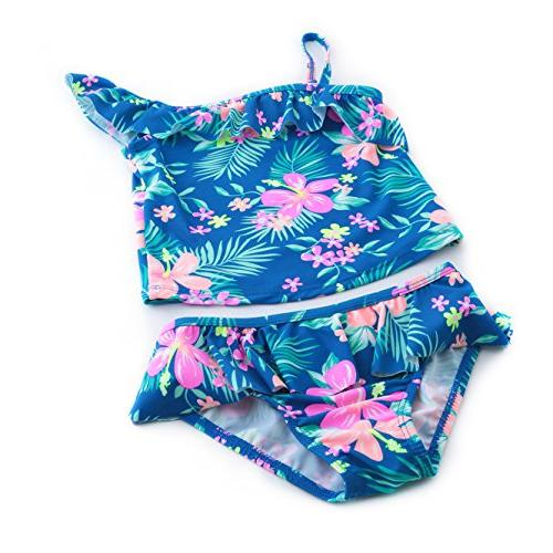 Litle Girls Tankini Swimwear Bathing Suit Blue